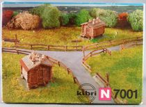 Kibri 7001 N Scale Small Wooden Mountain Chalet wit Fences Boxed