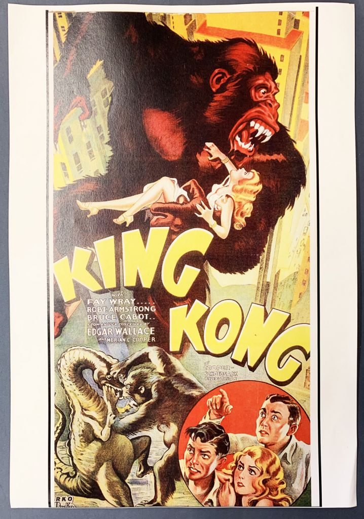 King Kong Repro Movie Poster 48 X 33 Cm 1933 Movie