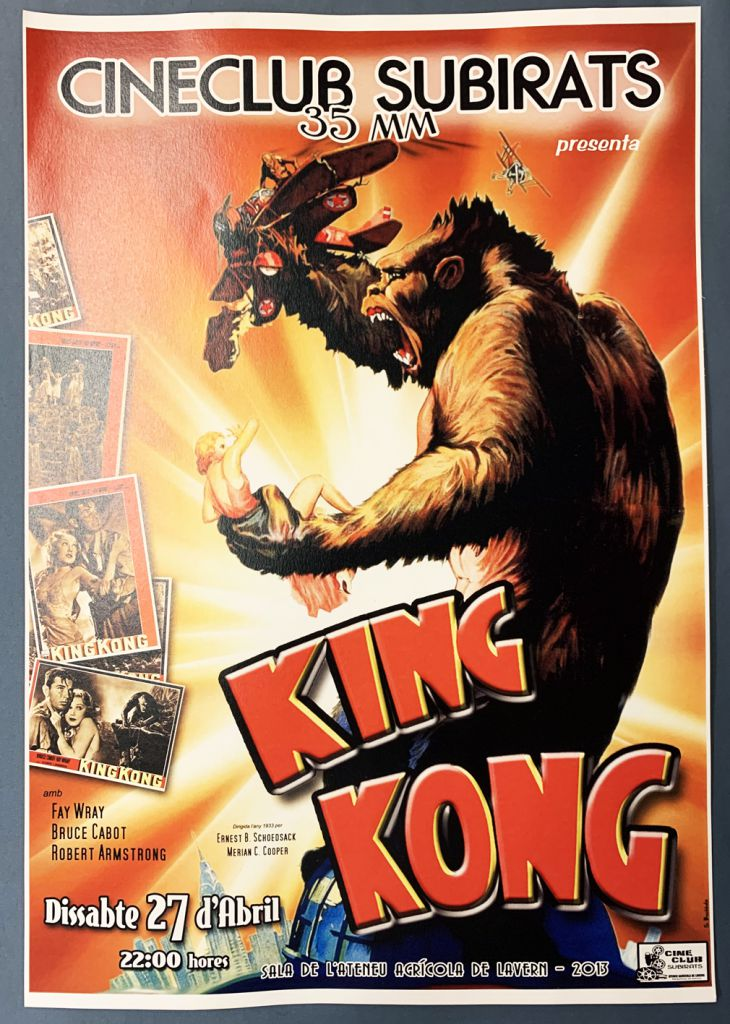 King Kong Repro Movie Poster 48 X 33 Cm 1933 Movie Subirats Cineclub