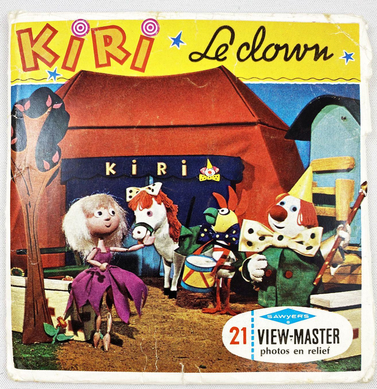Kiri le Clown - View-Master (Sawyer\'s Inc.) - Pochette de 3 disques (21 images stéréo) et Livret