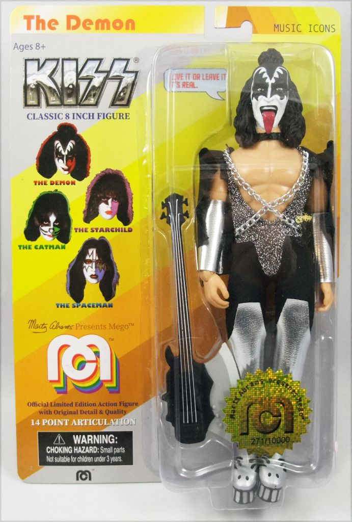 """MEGO KISS-The Demon-Gene Simmons Target 8/""""-Inch Action Figure Numbered-New!!"""