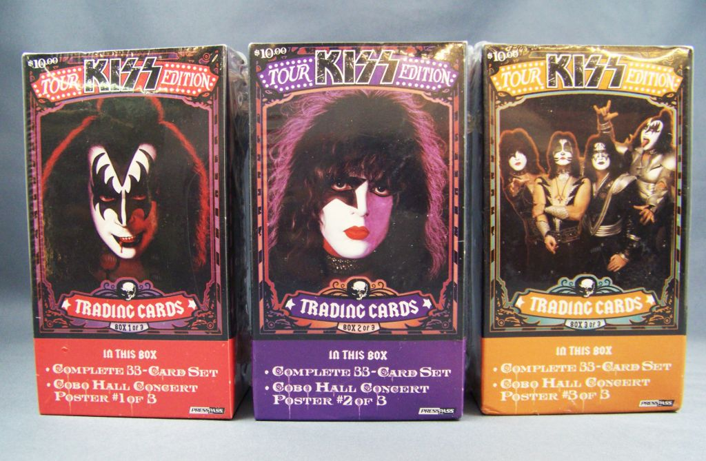 KISS Tour Edition - Trading Cards Press Pass 2009 - Sets de 33 cartes (box 1, 2 et 3)