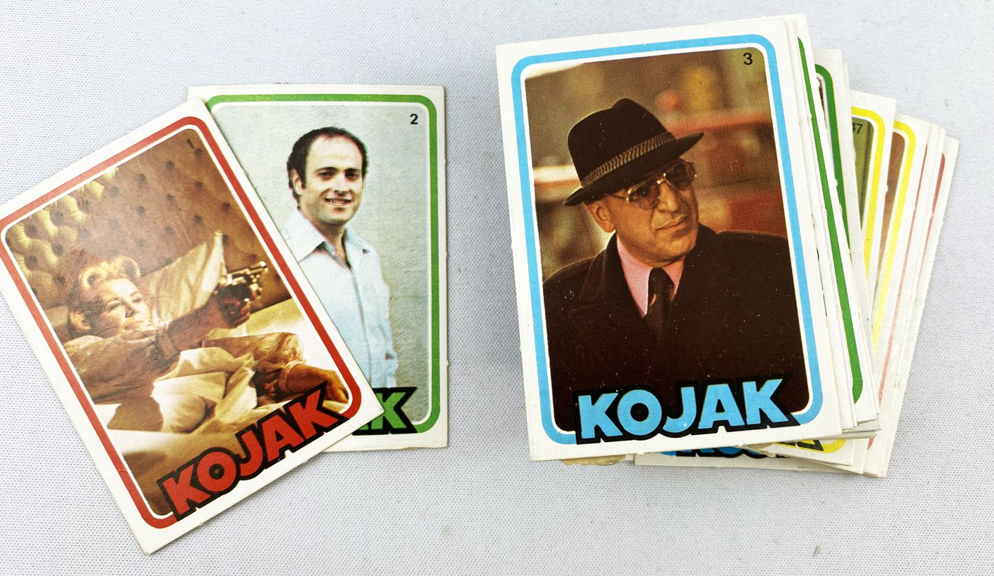 Kojak - Lemberger Bubble Gum Trading Cards (1975) - Série complète de 72 trading cards