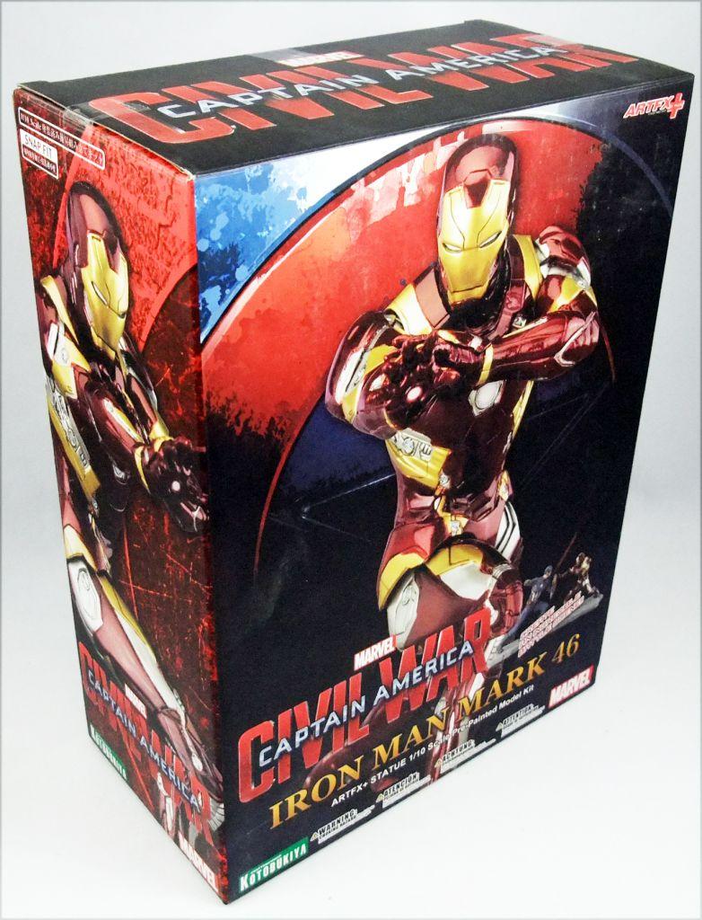 Kotobukiya - Civil War PVC Statue - Iron Man Mark 46 - 1/10 scale Pre-Painted Model Kit