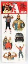 L\'Agence Tous Risques - Pochette de puffy stickers - Larami 1983