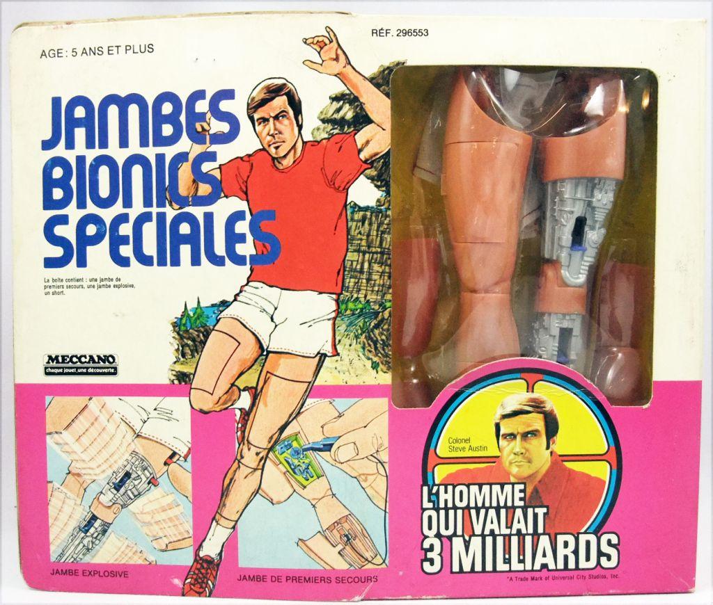 L\'homme qui valait 3 Milliards - Accessoires pour Figurine 30cm Kenner- Jambes Bionics Spéciales - Meccano