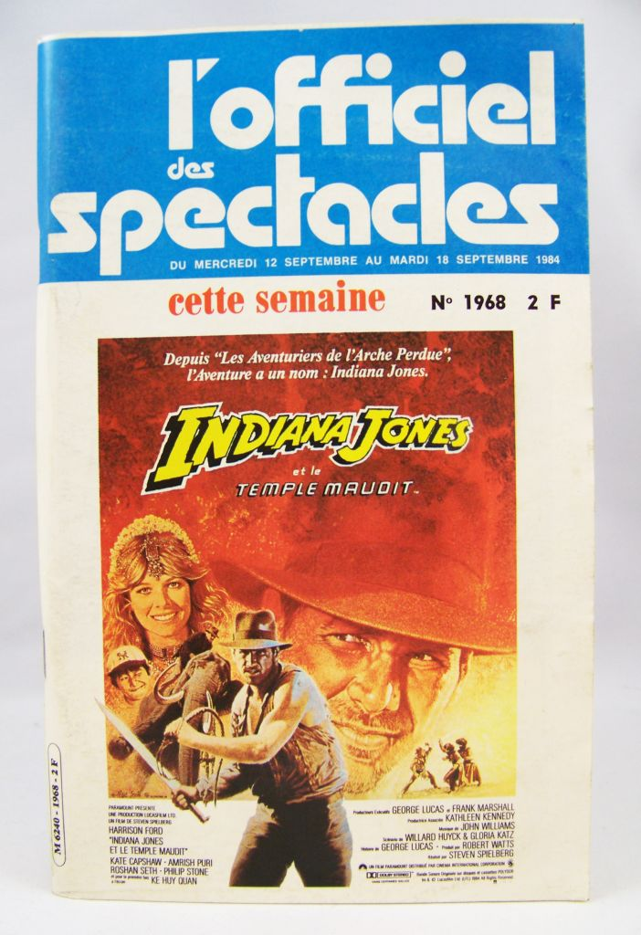 L\'Officiel des Spectacles n°1968 (Sept.1984) - Indiana Jones et le Temple Maudit 01