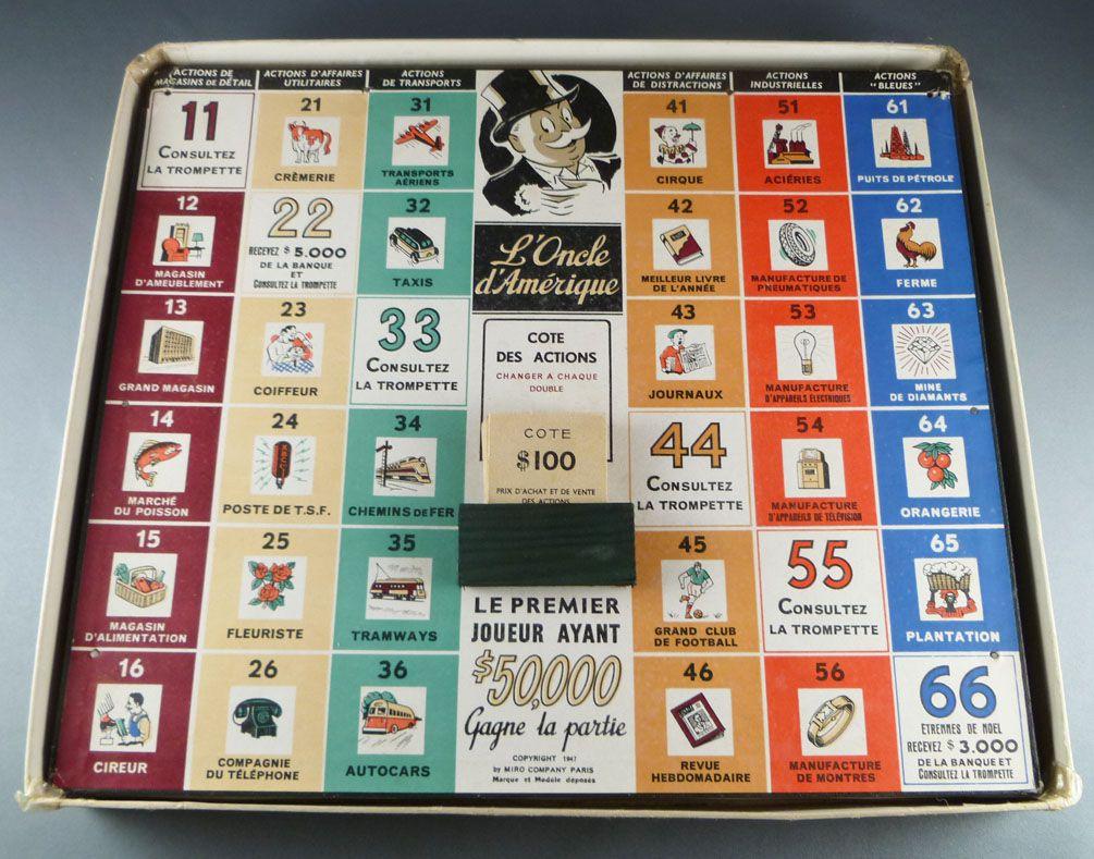 L\'Oncle d\'Amérique - Board Game - Miro (Monopoly 1st version)