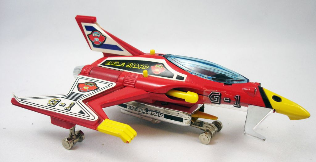 La Bataille des Planètes (Gatchaman) - Popy Ceji Arbois - Eagle Sharp/Aigle Rusé l\'avion de Marc (loose avec boite)