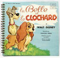 La Belle et le Clochard - Livre-Disque 33T Le Petit Ménestrel (1957) - Histoire racontée par François Périer