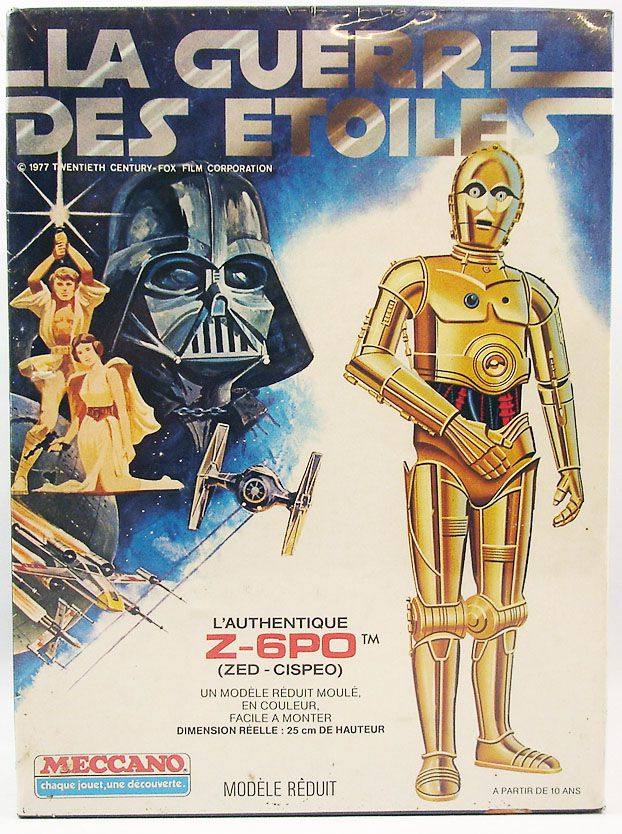 La Guerre des Etoiles - l\'authentique Z-6PO (Zed-Cispeo) - Modèle Reduit - Meccano 1978