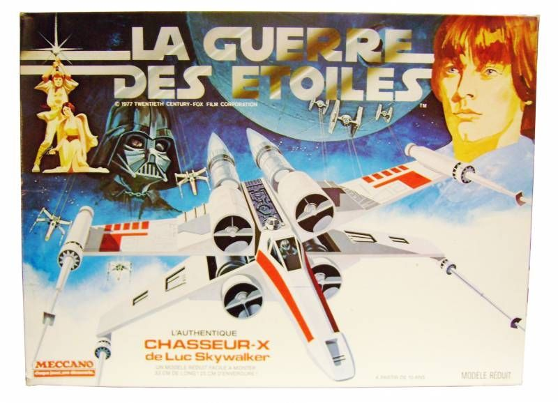 La Guerre des Etoiles - Luke Skywalker\'s X-Wing - Model Kit - Meccano 1978