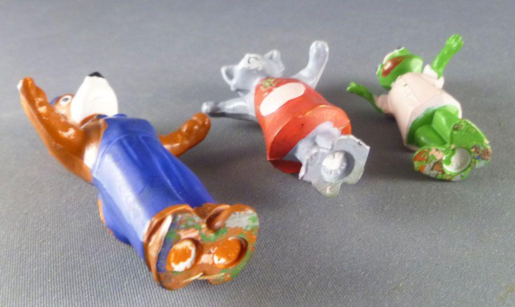 La Maison de Toutou - Figurine plastique Jim - Série Complète Toutou Kiki Zouzou