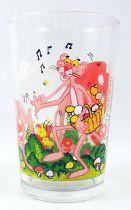 La Panthère Rose - Verre à moutarde Amora 1983 - La cueillette aux champignons