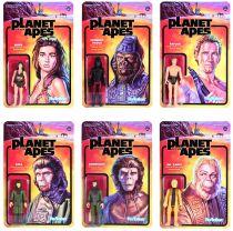 La Planète des Singes - Set de 6 action figures ReAction : Cornelius, Zira, Taylor, Nova, Dr. Zaius, Général Ursus - Super7