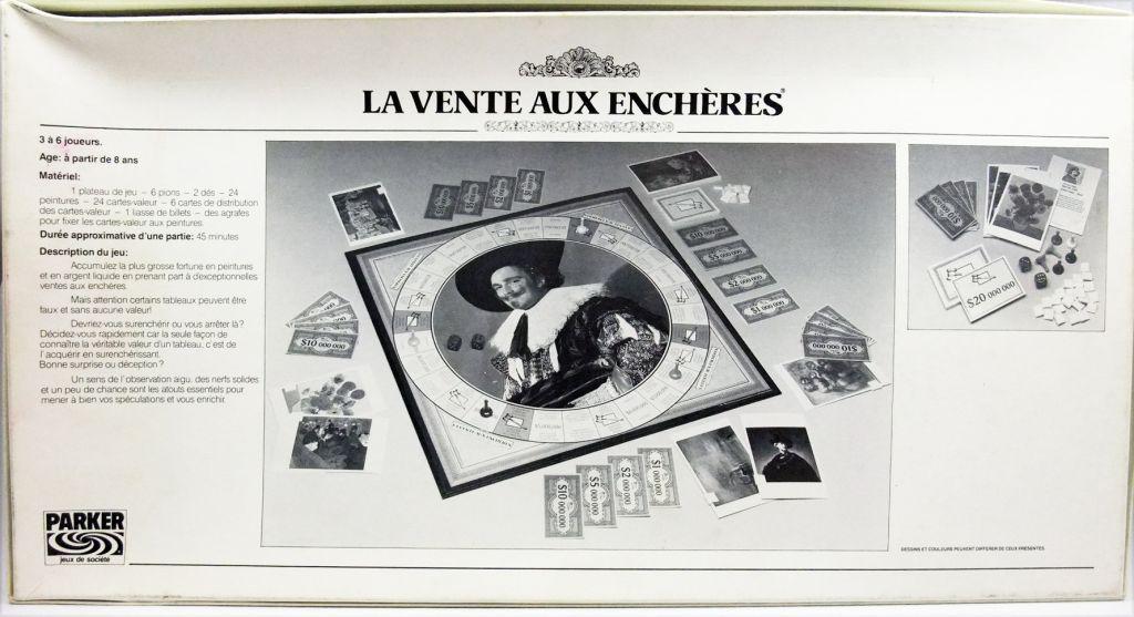 La Vente aux enchères - Jeu de société - Parker 1987