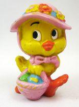 Lapin & Caneton - Figurine PVC Maia Borges - Caneton avec chapeau rose