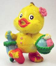 Lapin & Caneton - Figurine PVC Maia Borges - Caneton avec parapluie