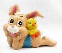 Lapin & Caneton - Figurine PVC Maia Borges - Lapin allongé avec poussin