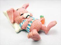 Lapin & Caneton - Figurine PVC Maia Borges - Lapin faisant la sieste