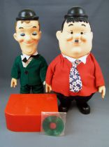Laurel & Hardy - Berman & Anderson Inc 1973 -  Talking Vinyl Dolls (with box)