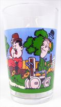 Laurel & Hardy - Mustard glass 1973 - Laurel, Hardy and the raging bull