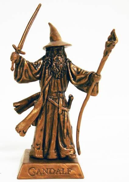 Le Hobbit : Un Voyage Inattendu - Mini Figurine - Gandalf le Gris au combat (bronze)
