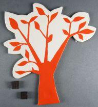 Le Manège enchanté - Figurine Carton Magnétique Djeco 1966 - Arbre Orange