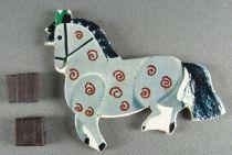 Le Manège enchanté - Figurine Carton Magnétique Djeco 1966 - Cheval du Manège N°1