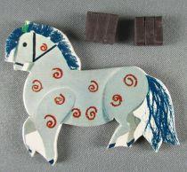 Le Manège enchanté - Figurine Carton Magnétique Djeco 1966 - Cheval du Manège N°2
