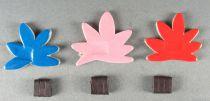 Le Manège enchanté - Figurine Carton Magnétique Djeco 1966 - Fleurs x 3 (bleu Rose Orange)