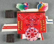 Le Manège enchanté - Figurine Carton Magnétique Djeco 1966 - Orgue de Barbarie