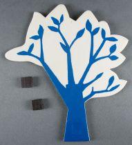 Le Manège enchanté - Figurines Carton Magnétiques Djeco 1966 - Arbre Bleu