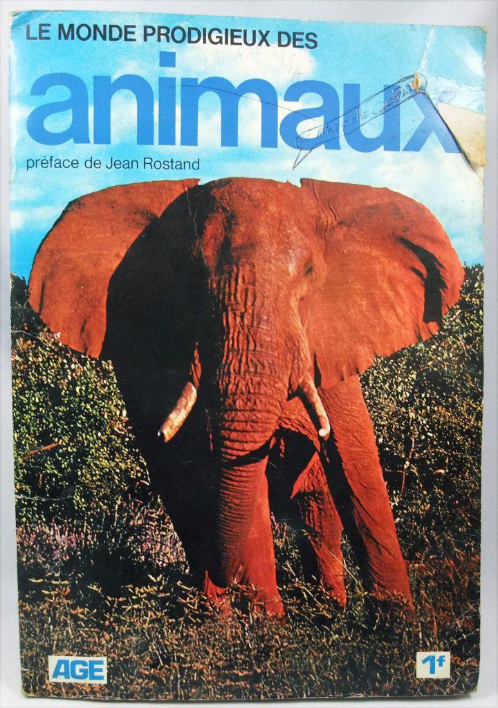 Le Monde Prodigieux des Animaux - Album Collecteur de vignettes - AGE 1970