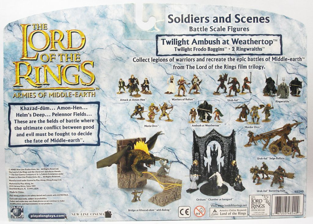 Le Seigneur des Anneaux - Armies of Middle-Earth - Embuscade Spectrale au Mont-Venteux : Frodon Sacquet & les Nazguls