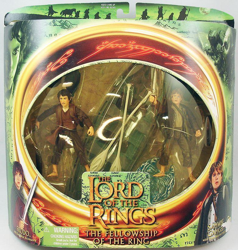 Le Seigneur des Anneaux - Frodon et Sam avec barque elfique - FOTR