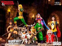 Le Sourire du Dragon - Set complet de statues Iron Studios : Hank, Diana, Presto, Eric, Sheila, Bobby & Uni, Grand Maitre