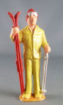 Lehmann - 70 mm Plastic Figure - With Ski From the Rigi Electric Cable Railway