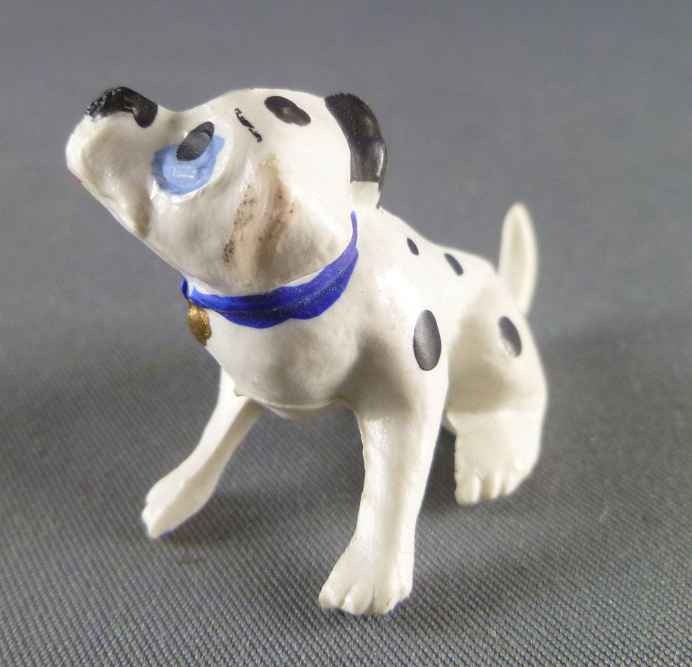 Les 101 dalmatiens - Figurine Jim - Chiot assis se grattant l\'oreille (collier bleu)