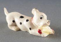Les 101 dalmatiens - Figurine Jim - Chiot rongeant un os collier rouge