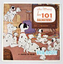 Les 101 Dalmatiens - View-Master (Sawyer\'s Inc.) - Pochette de 3 disques (21 images stéréo) et Livret