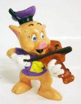 Les 3 petits cochons - Figurine pvc Bullyland - Nouf-Nouf le violoniste