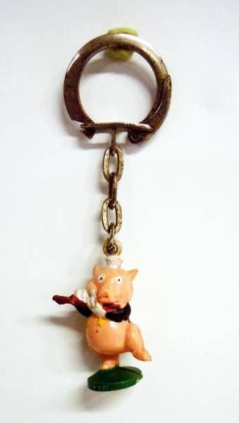 Les 3 petits cochons - Porte clés figurine Jim - Nif-Nif le flûtiste