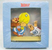 Les Archives d\'Asterix - Atlas - Figurines Métal n°2 - Obélix et Lucius Fleurdelotus