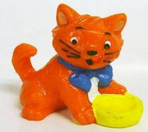 Les Aristochats - Figurine PVC Bully - Toulouse (gamelle jaune)
