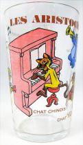 Les Aristochats - Verre à moutarde Amora - La Bande de Scat Cat autour du piano