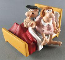 Les Bidochon - Démons & Merveilles - Robert & Raymonde au Lit Figurines Résine