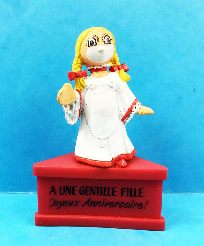 """Les Bubblies - Figurine Schleich sur socle - Fée Gwendoline \""""A une gentille fille, Joyeux anniversaire!\"""")"""