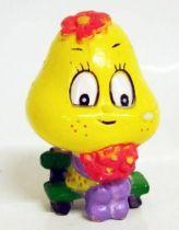 Les Champignoux - Figurine PVC Michel Oks 1984 - Champignou avec fleurs