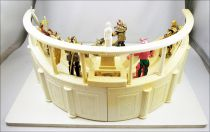 Les Chevaliers du Zodiaque - Bandai France 1988 - Presentoir display de magasin Stade Colisée et figurines